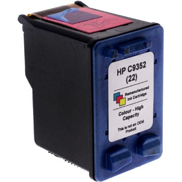 HP 22 / C9352 Reman for HP DJ 3920/3940/1410 Colour