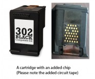 HP 302 Black / F6U66AE (EXTRA CHIP) Reman for